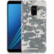 Samsung Galaxy A8 Plus 2018 Hoesje Army Digi Camouflage