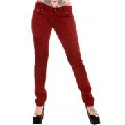 kalhoty dámské 3RDAND56th - Swallow Skinny Jeans - Wine - JM1118