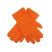 Merkloos Oranje fleece handschoenen