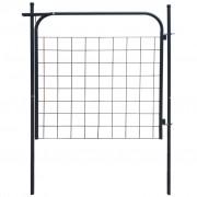 vidaXL Poartă pentru gard de de gradină 100 x 100 cm antracit