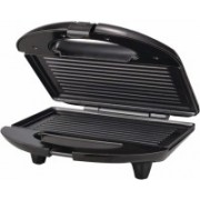 Cpixen 1400 Watt Grill Sandwich Toaster with Fixed Grill Plates Open Grill(Black)