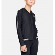 Under Armour Girls' UA Play Up Full Zip Jacket Black YSM
