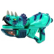 Jurassic Dino-Blasters Triceratops Pump Childrens Toy Water Gun, Super Blaster Soaker (Colors May Vary)