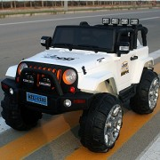Kids Ride on Big Size Jeep 12volts with Remote Control by Toys & MOTORADES (Colour : White)