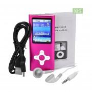 EY Pantalla De 1,8 Pulgadas De 32 GB Video MP4 Player Metal Raido FM Grabador De Voz-Rojo