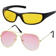 Freny Exim Aviator, Sports Sunglasses(Pink, Yellow)