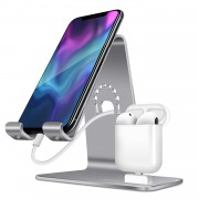 BESTAND 2-in-1 Airpods Charger Dock Phone Desktop Tablet Stand Holder - Grey