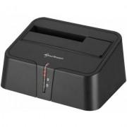 "Sharkoon SATA QuickPort XT USB3.0 - Controller voor opslag - met gegevensindicator, indicator elektriciteit - 2.5"" / 3.5"" gedeeld - SATA 3 - 600 MBps - USB 3.0"