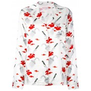 Olympia Le-Tan рубашка 'Jeff' с рисунком 'Psycho' Olympia Le-Tan