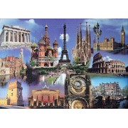 RCS Toys Educa Jigsaw Puzzle - Europe Collage - 2000 Pieces