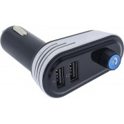 Earldom Bluetooth FM transmitter mp3 player met 2 x USB poort handsfree bellen - mp3 - zilver