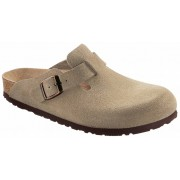 Boston suede leer taupe