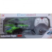 Exceed Induction Type 2-in-1 Flying Indoor Helicopter with Remote (multicolor)