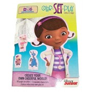 Disney Doc McStuffins Book to Color ~ Color, Set and Play! (Coloring Book with 5 Standee Characters and Color Your Own Playset; 2014)