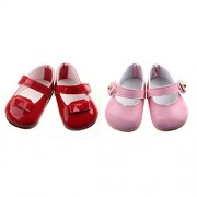 ELECTROPRIME® 2 Pairs of Fashion Casual Strap Shoes Fit 17'' Zapf Baby Born Dolls
