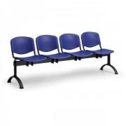 Kovo Praktik Plastové lavice ISO II, 4-sedák, černé nohy oranžová