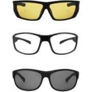 Ivonne Retro Square Sunglasses(Clear, Yellow, Black)