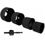 Set 4 Freze Cilindrice pentru Lemn sau Rigips, Diametru intre 32-54mm
