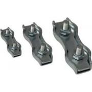 Clemă de strângere cablu, dublă, oţel - d=3-3,5mm, M4 BSZ2-3 - Tracon