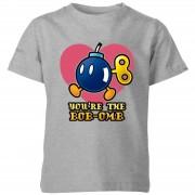 Nintendo Super Mario Bob-Omb Kinder T-shirt - Grijs - 5-6 Years - Grijs