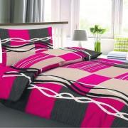Lenjerie pat 1 pers. Bonita Monaco, creponată, 140 x 200 cm, 70 x 90 cm