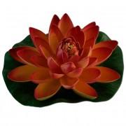 Max Plastový leknín červený - Leknínový květ velký 18cm