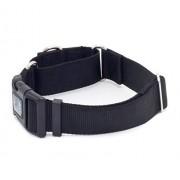 Caninus Collars 1 1/5,1 cm Martingala W/Hebilla Perro Collars - Heavy Duty (3,8 cm Ancho de Nylon Perro Abrazaderas Varios Colores), Negro