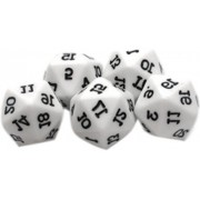 Custom & Unique {Large 19mm} 5 Ct Pack Set Of 20 Sided [D20] Icosagon Shape Playing & Game Dice W/ Rounded Corner Edges W/ Classic Kids Games Delight For Rpg And D&D Gamers [White & Black]
