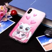 Amantes Cat Patron Funda Protectora TPU Suave Para El IPhone X / XS