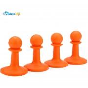 SHINETRIP 4pcs que acampan el protector de la (Naranja)