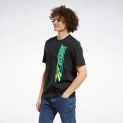 Reebok Classics Vertical Vintage T-shirt - Black - Size: Extra Small