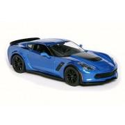 Wild Republic 2015 Chevrolet Corvette Z06, Blue - Maisto 31133 - 1/24 Scale Diecast Model Toy Car