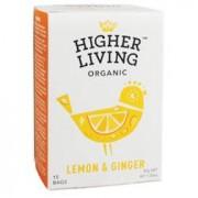 Higher Living Lemon & Ginger Tea Bio