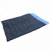 Outsunny Double Sleeping Bag-Blue/Black