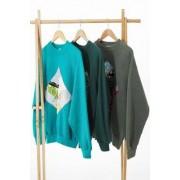Urban Renewal Remade From Vintage - Sweatshirtu00a0patchwork vert- taille: M/L