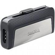 SanDisk USB 3.1 Flash Drive Ultra Dual 128 GB Black, Silver