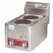 Diamond Cuisinière Electrique 2 Plaques de Table INOX 2x 2 kW