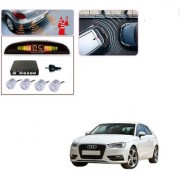 Auto Addict Car Silver Reverse Parking Sensor With LED Display For Audi A3