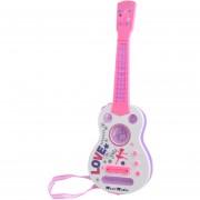 Simulación De 4 Cuerdas Destello Mini Guitarra Niños Instrumentos Musicales Juguetes Educativos - Rosa