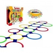Emob Twister Hopscotch Active Indoor Play with Rings and Party Board Game for Kids Board Game