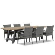 Domani Furniture Domani Solarino/Trente 260 cm dining tuinset 7-delig stapelbaar