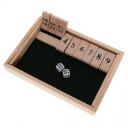 Segolike Shut The Box Board Game Set with 2 Dices Number Drinking Games Adult Party Club Family Game Indoor Leisure Entertainment