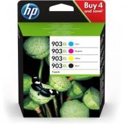 HP Confezione da 4 cartucce di inchiostro nero/ciano/magenta/giallo originali ad alta capacità 903XL
