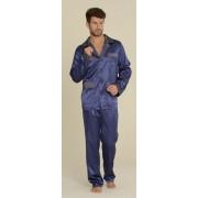De Lafense Pánské pyžamo SATYNA 939 - DE LAFENSE tmavě modrá M