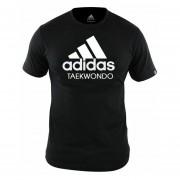 Camiseta Taekwondo Negro / Blanco adidas