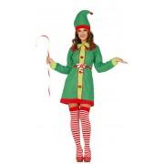Guirca Disfraz de elfo de Navidad para mujer - Talla L