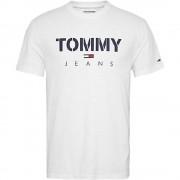 Tommy Jeans T-Shirt Uomo Textured, Taglia: M, Per adulto Uomo, Bianco, DM0DM07438-YA2