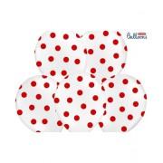 Set 6 Baloane Crem Cu Picatele Rosii