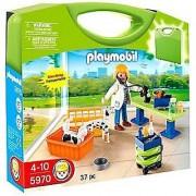 PLAYMOBIL Carrying Case Vet Clinic Playset