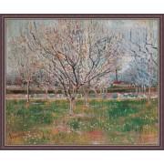 Poster Van Gogh Livada inflorita inramat